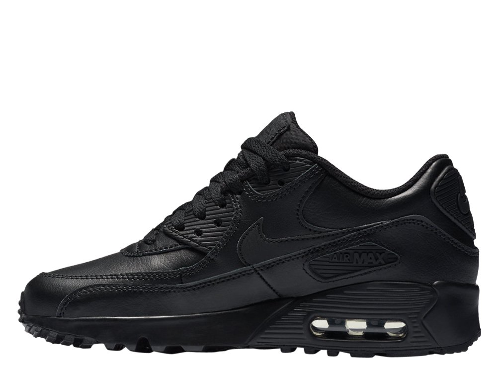 Details about Nike Air Max 90 LTR GS UK 4.5 EUR 37.5 Black White 833412 025