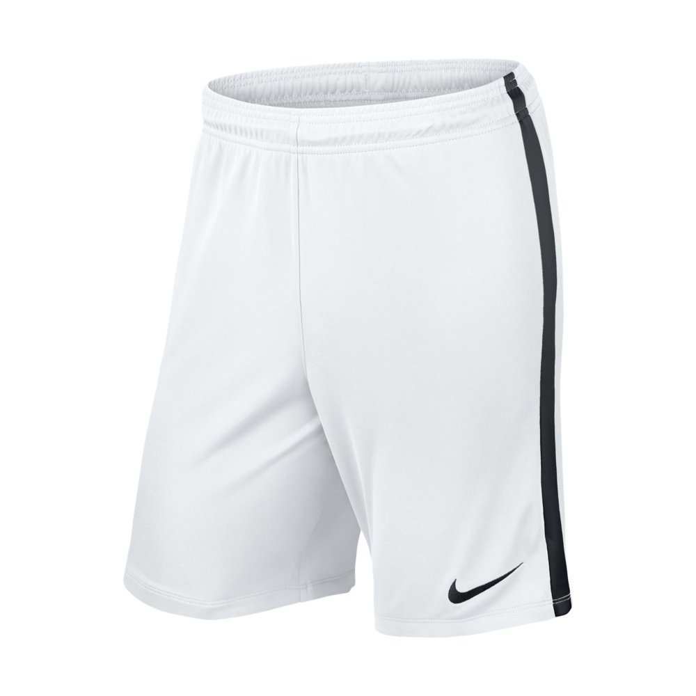 nike league knit short white