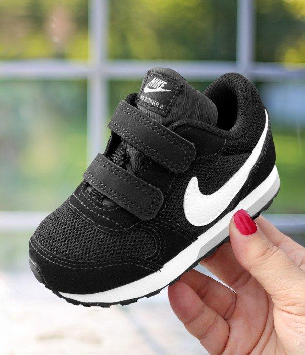 nike md runner 2 (tdv) czarno-białe