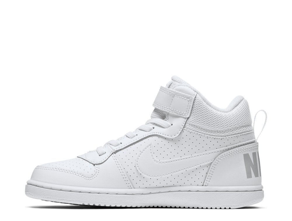 nike court borough mid (psv) white