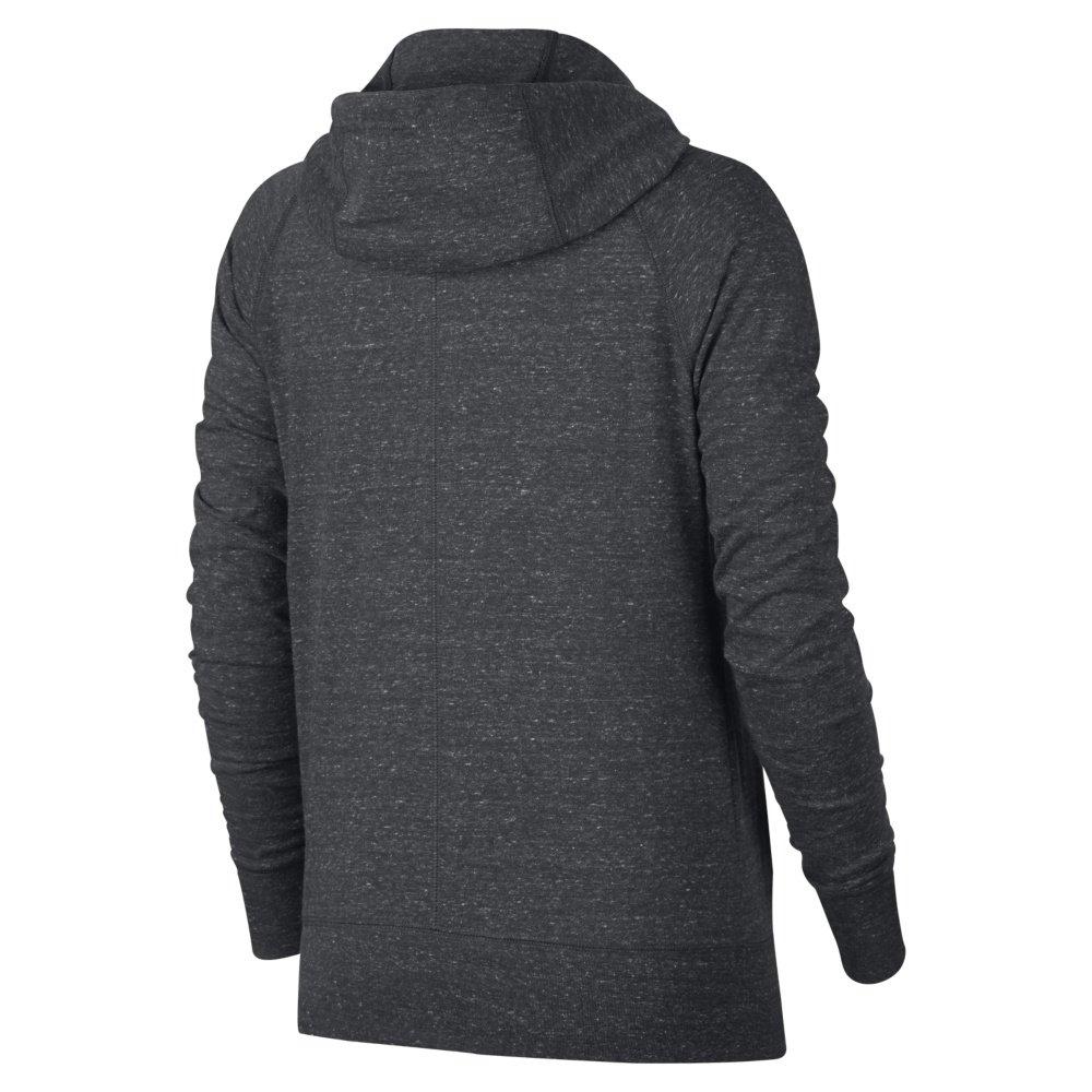 nike sportswear gym vintage full-zip hoodie grey
