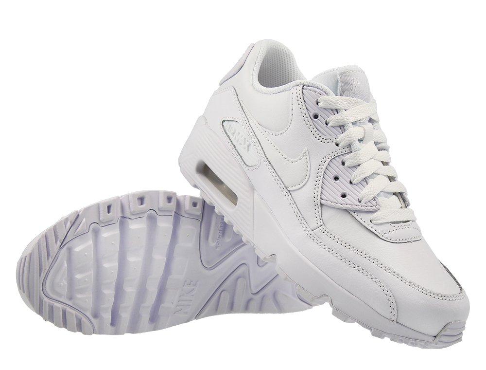 Buty DamskieMęskie Nike Air Max 90 LTR GS 105 biały