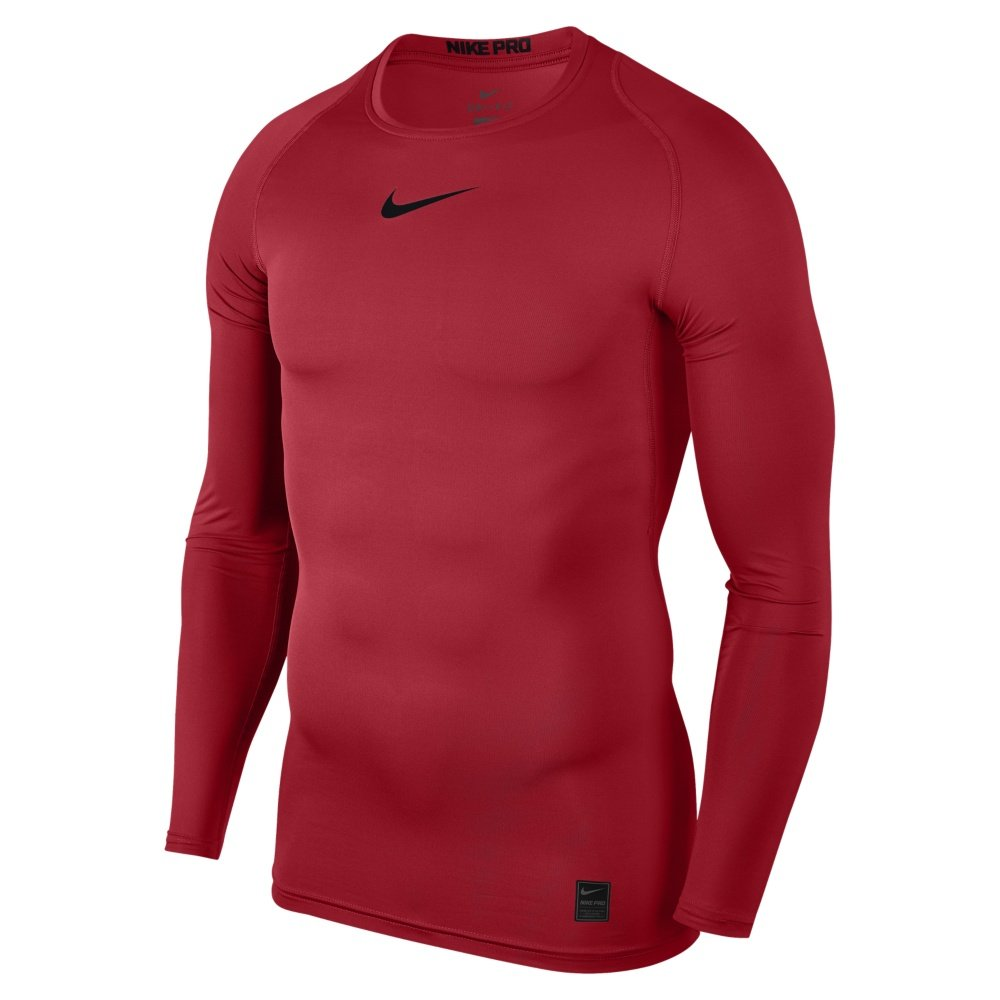 nike pro long-sleeve top m czerwona