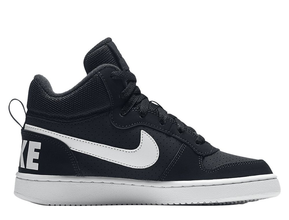nike court brought mid gs black
