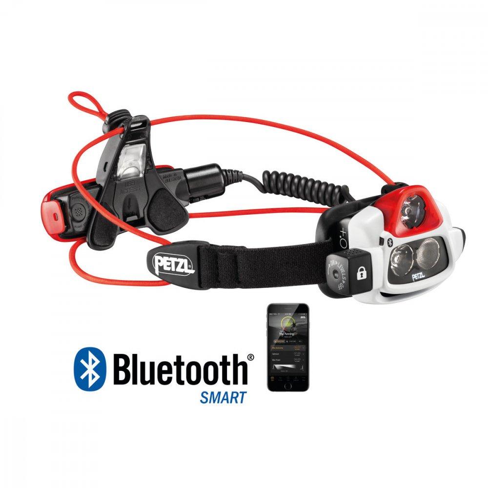 petzl nao+ performance headlamp biało-czerwono-czarna
