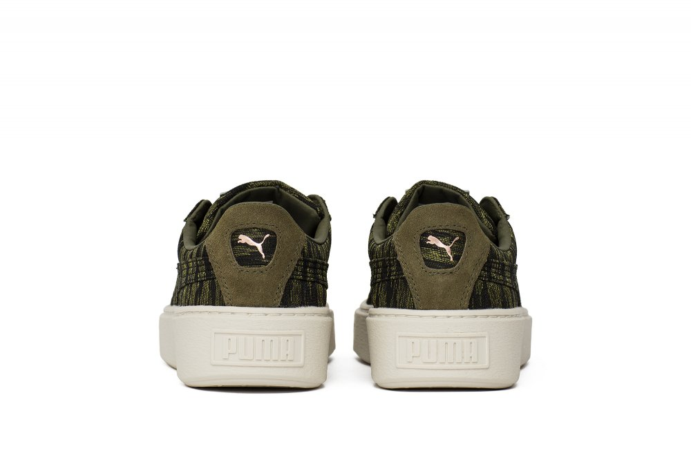 "puma basket platform vr wn's ""olive night"" (36409201)"