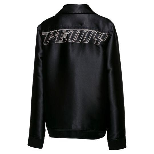 kurtka puma x fenty oversized satin biker jacket
