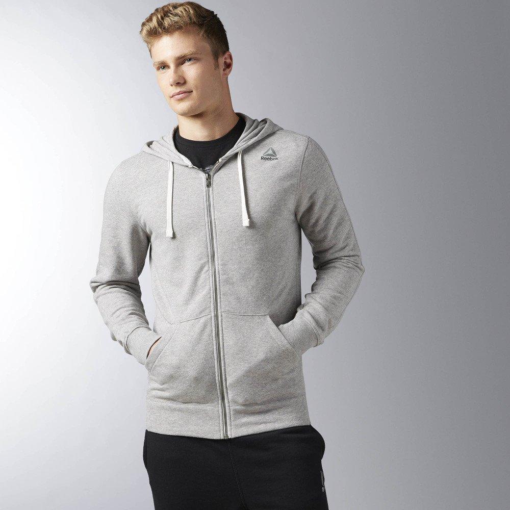 reebok elements seasonal ft full zip hoodie