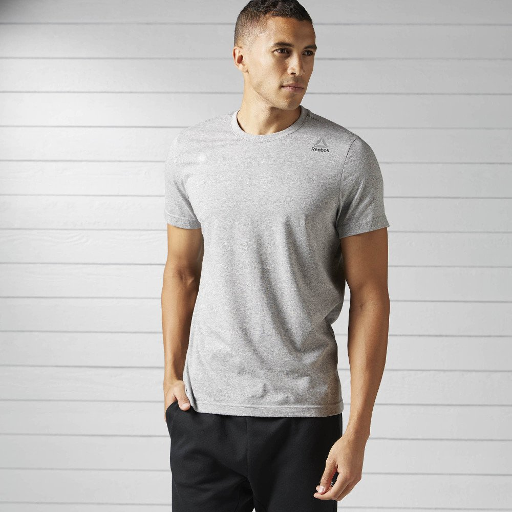 reebok elements classic tee grey