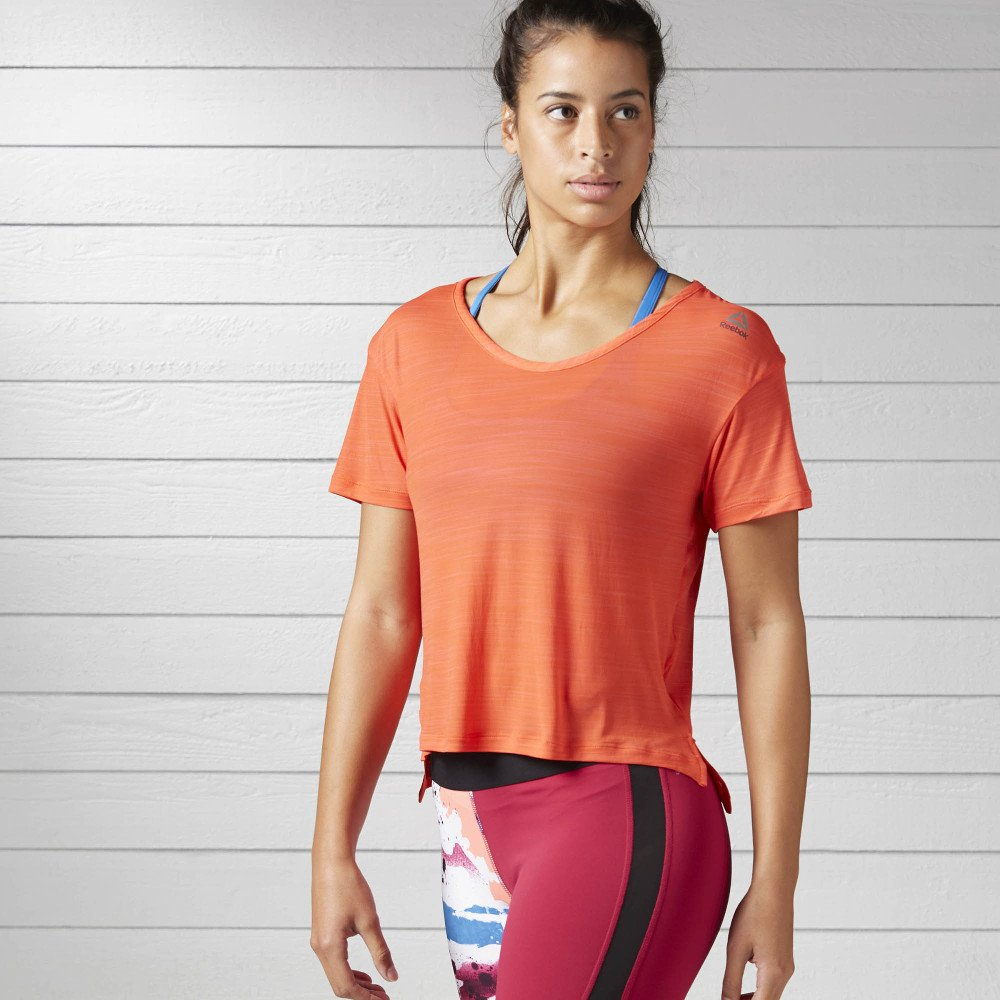 reebok workout ready activchill slub tee