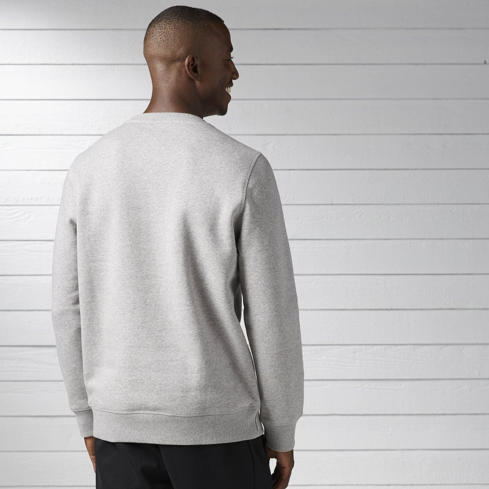 reebok element fleece crew neck grey