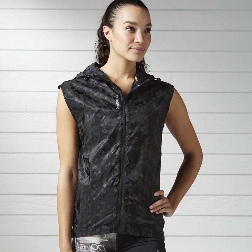 reebok running woven vest black