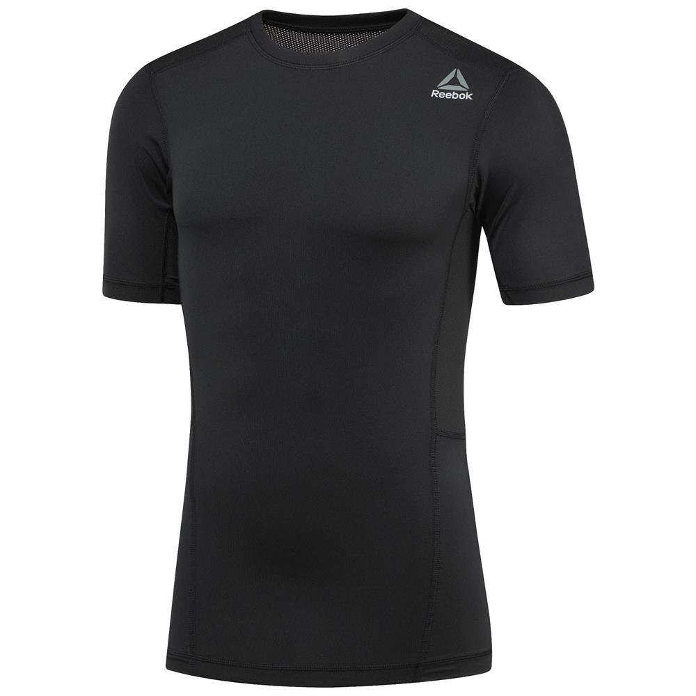 reebok workout ready short sleeve compression tee black