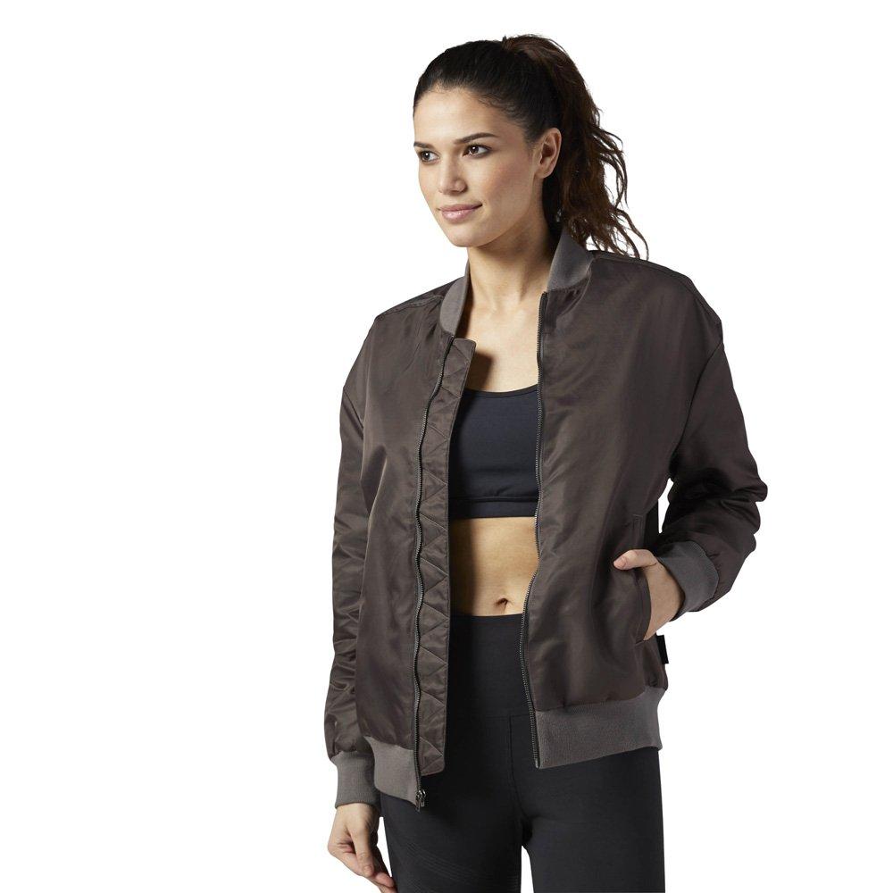 reebok studio favorites bomber jacket urban grey