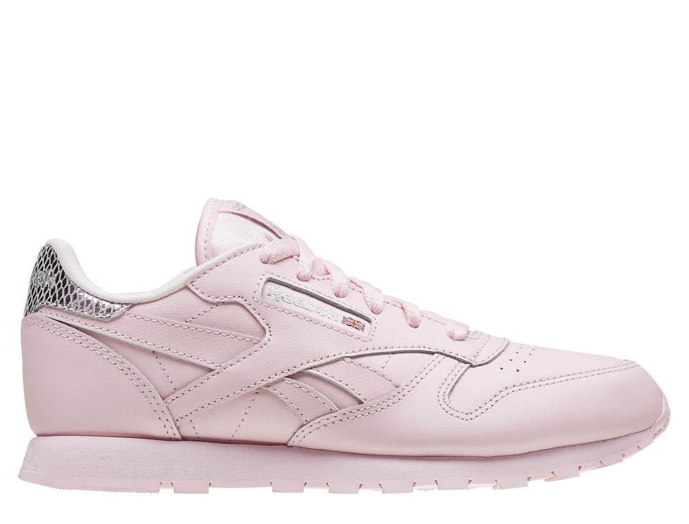 reebok classic leather metallic pink