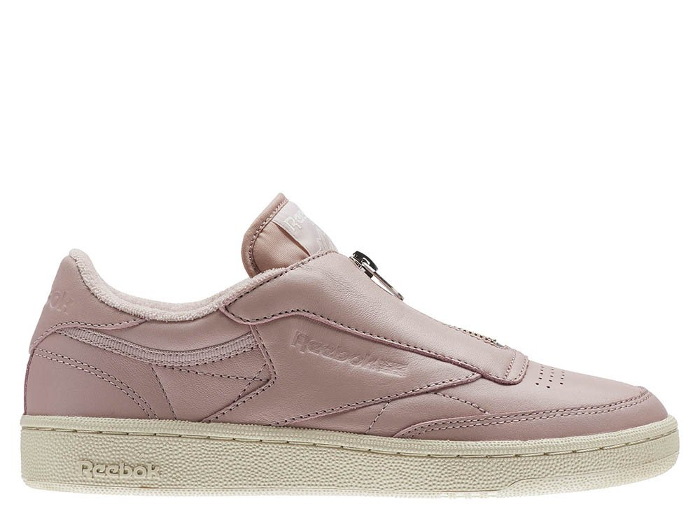 "reebok club c 85 zip ""shell pink"" damskie różowe (bs6606)"
