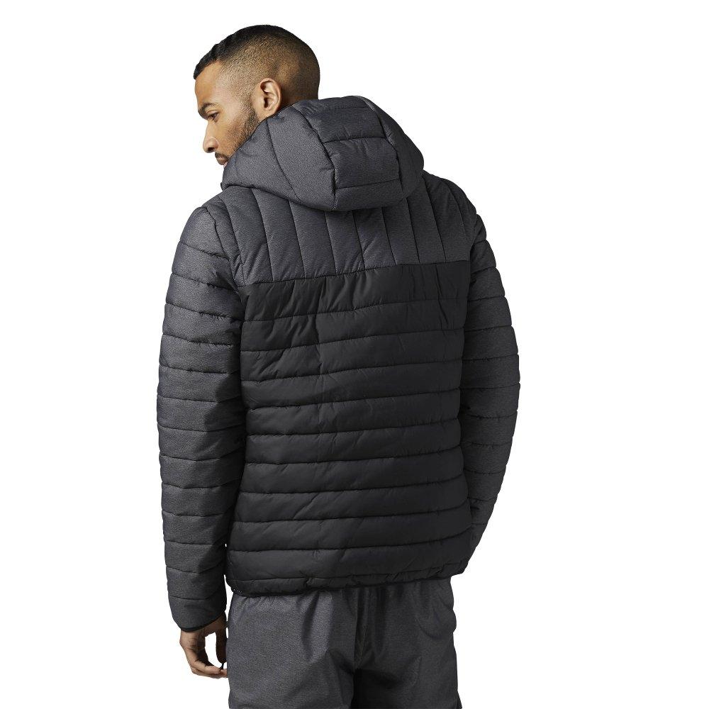 reebok outdoor padded jacket black