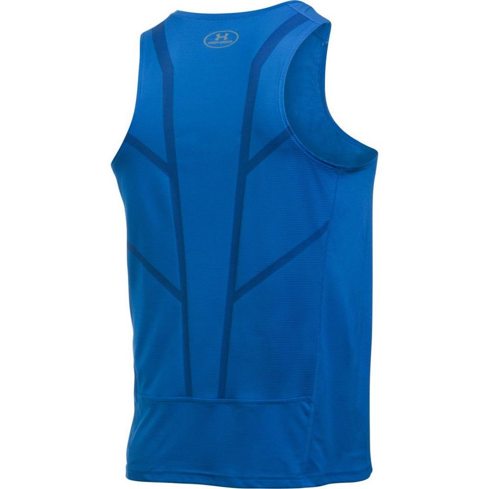under armour coolswitch run singlet v2 blue