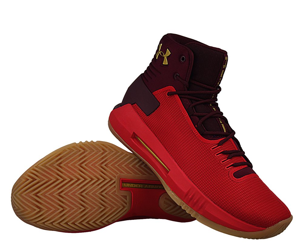 """under armour drive 4 """"red/metallic gold"""" (1298309-600)"""