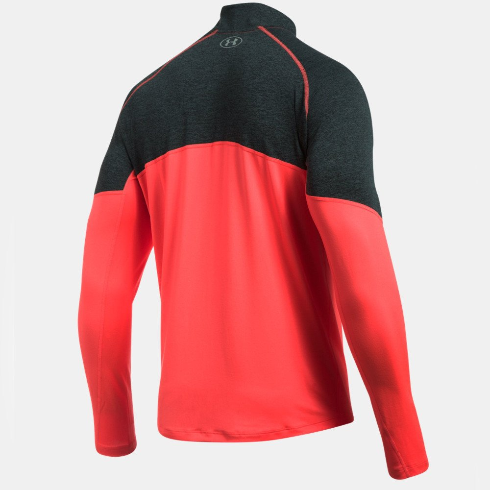 under armour threadborne run quarter zip m czarno-koralowa