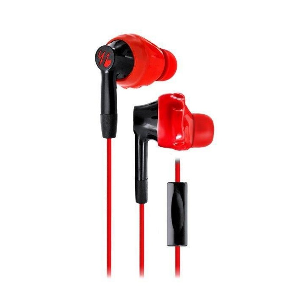 yurbuds inspire 300 quik clik mikrofon czarno-czerwone