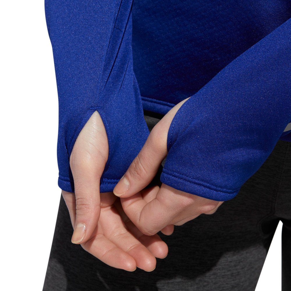 adidas response climawarm 1/2 zip tee w niebieska