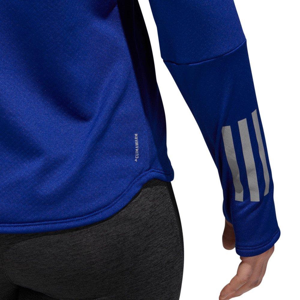 adidas Response Climawarm 12 Zip Tee W Niebieska