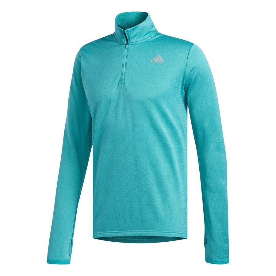 adidas response climawarm 1/2 zip men blue
