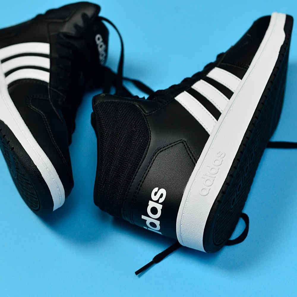 adidas vs hoops mid 2.0 czarno-białe