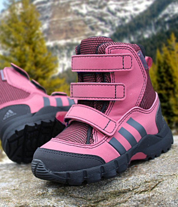 adidas cw holtanna snow cf różowo-czarne
