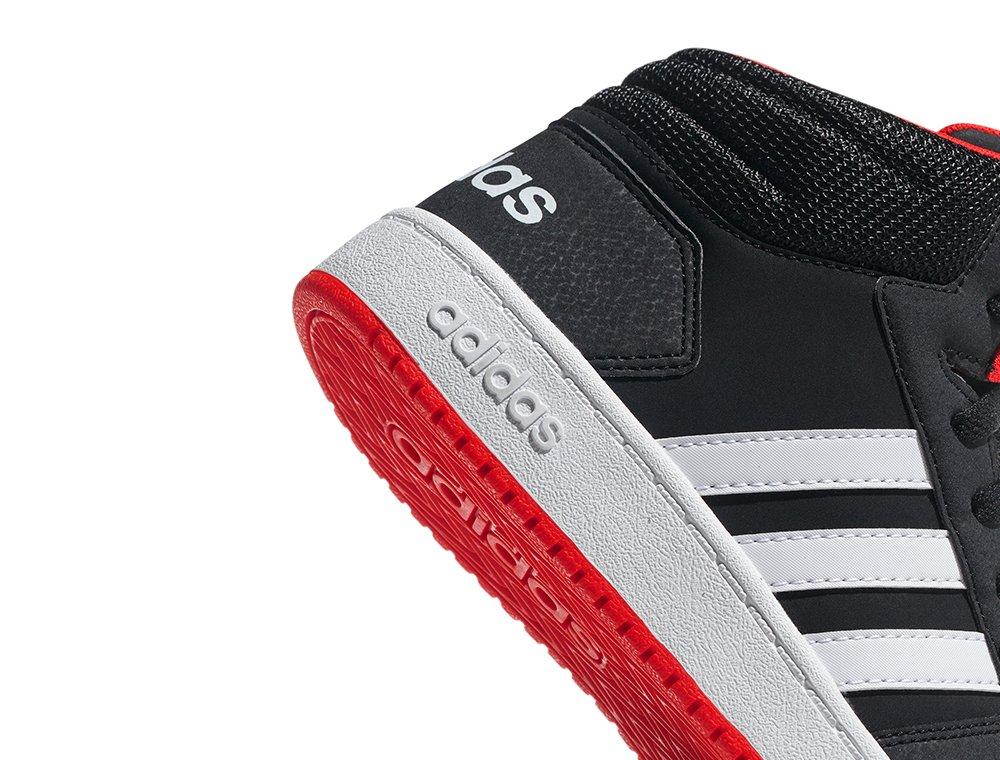 adidas Hoops Mid 2.0 K czarno czerwone