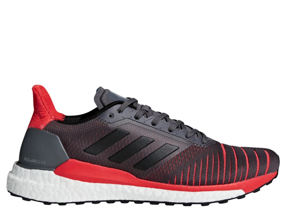 adidas solar glide shoes grey / core black / hi-res red