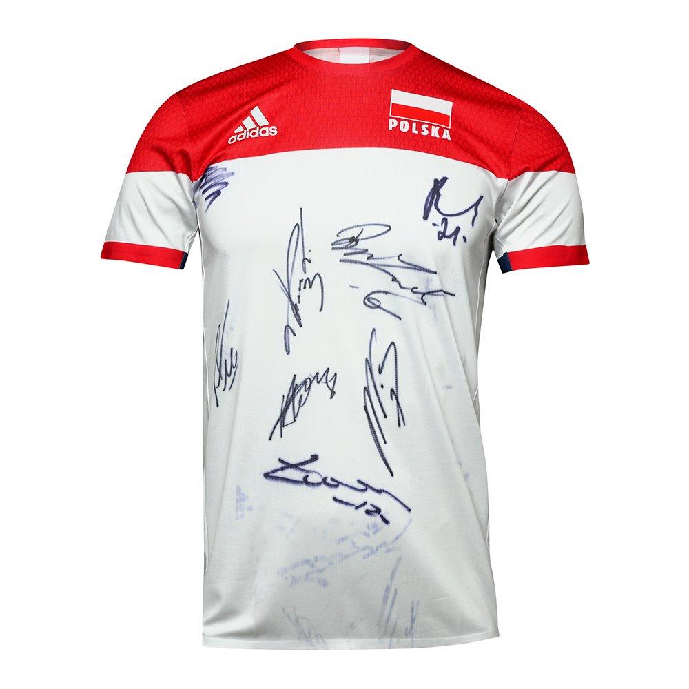 koszulka adidas reprezentacji polski z autografem zawodników reprezentacji