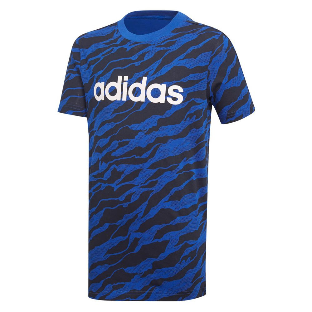 adidas youth linear graphic niebiesko-czarna