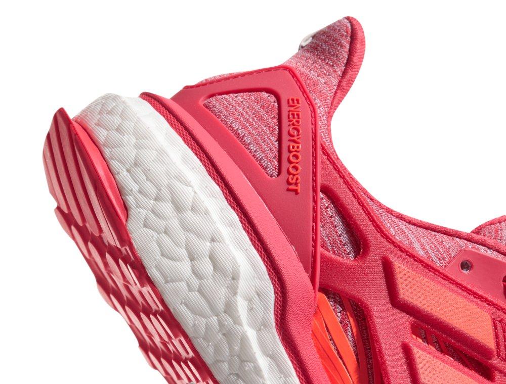 adidas energy boost w koralowo-pomarańczowe