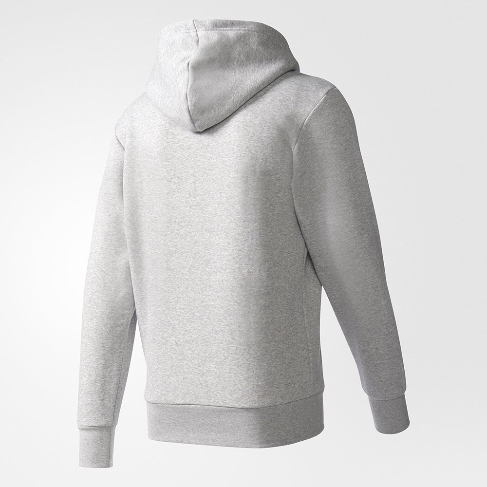 adidas essentials logo hoodie grey