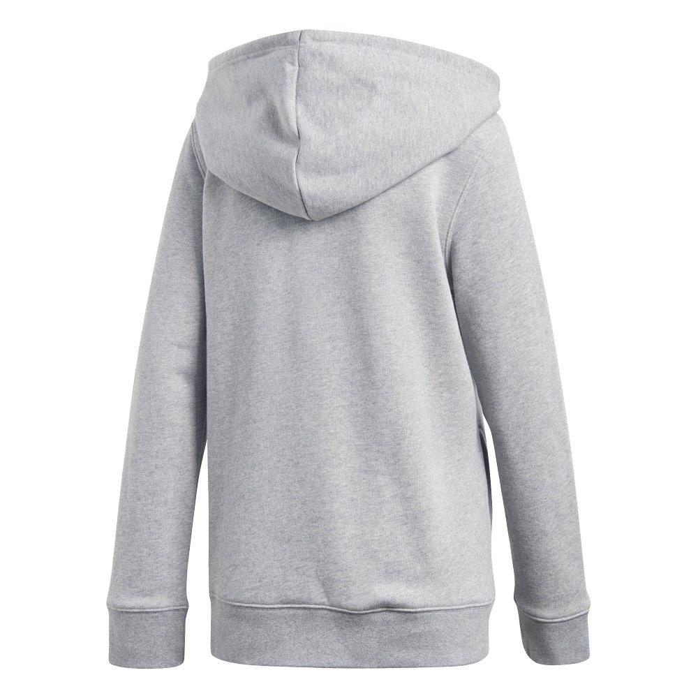 adidas trefoil hoodie szara