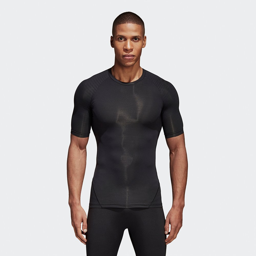 adidas alphaskin tech tee black