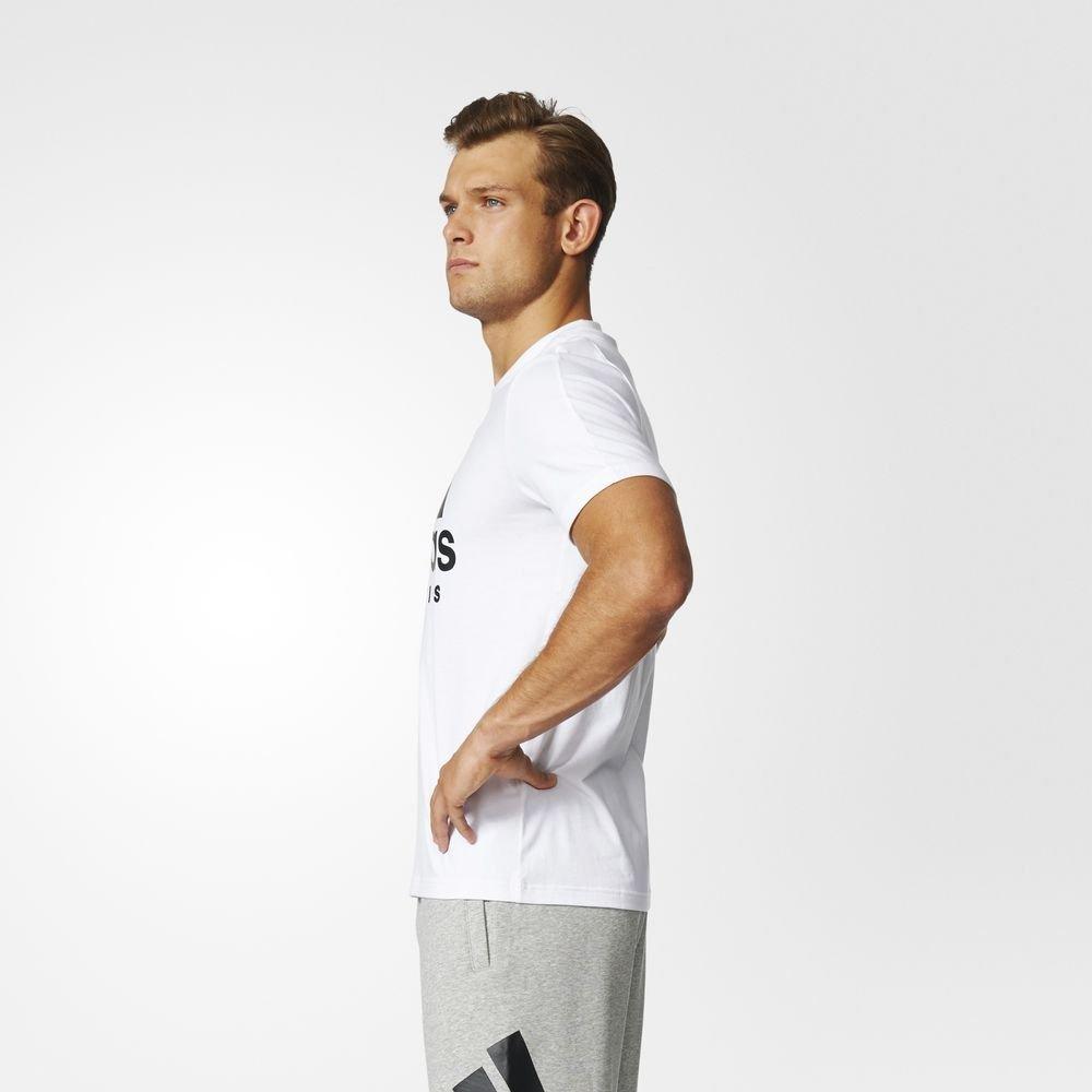 adidas sport id tee biało-czarna