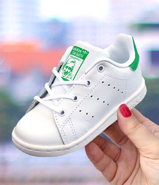 adidas stan smith i biało-zielone