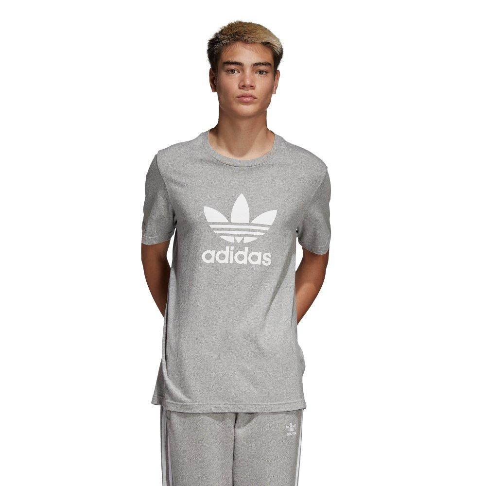 adidas trefoil tee szaro-biała