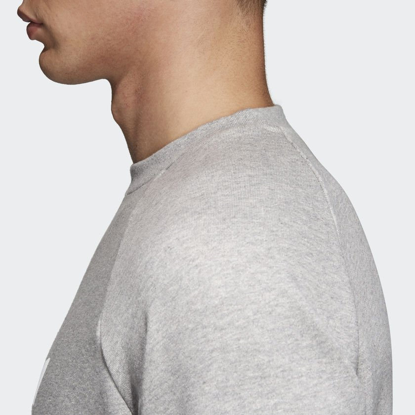 adidas originals trefoil crewneck grey