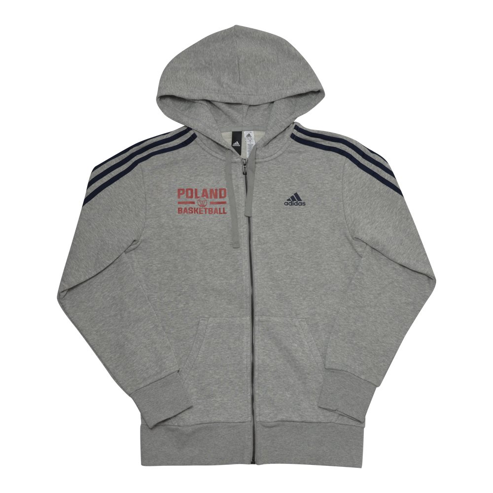 adidas essentials 3-stripes full-zip poland basketball (s98788-pol)