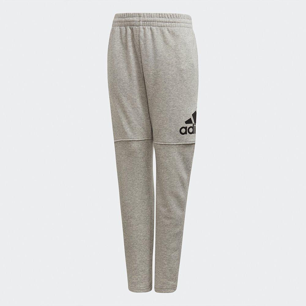 adidas yb logo pant grey