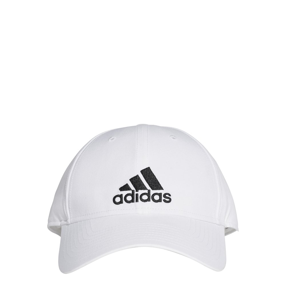 adidas 6 panel lightweight embroidered cap white