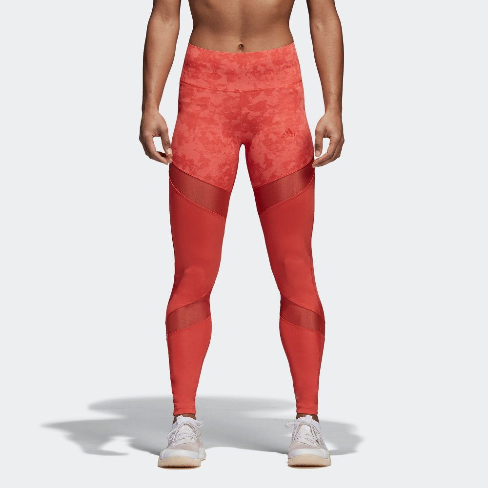 adidas legginsy ultimate high-rise printed w czerwone