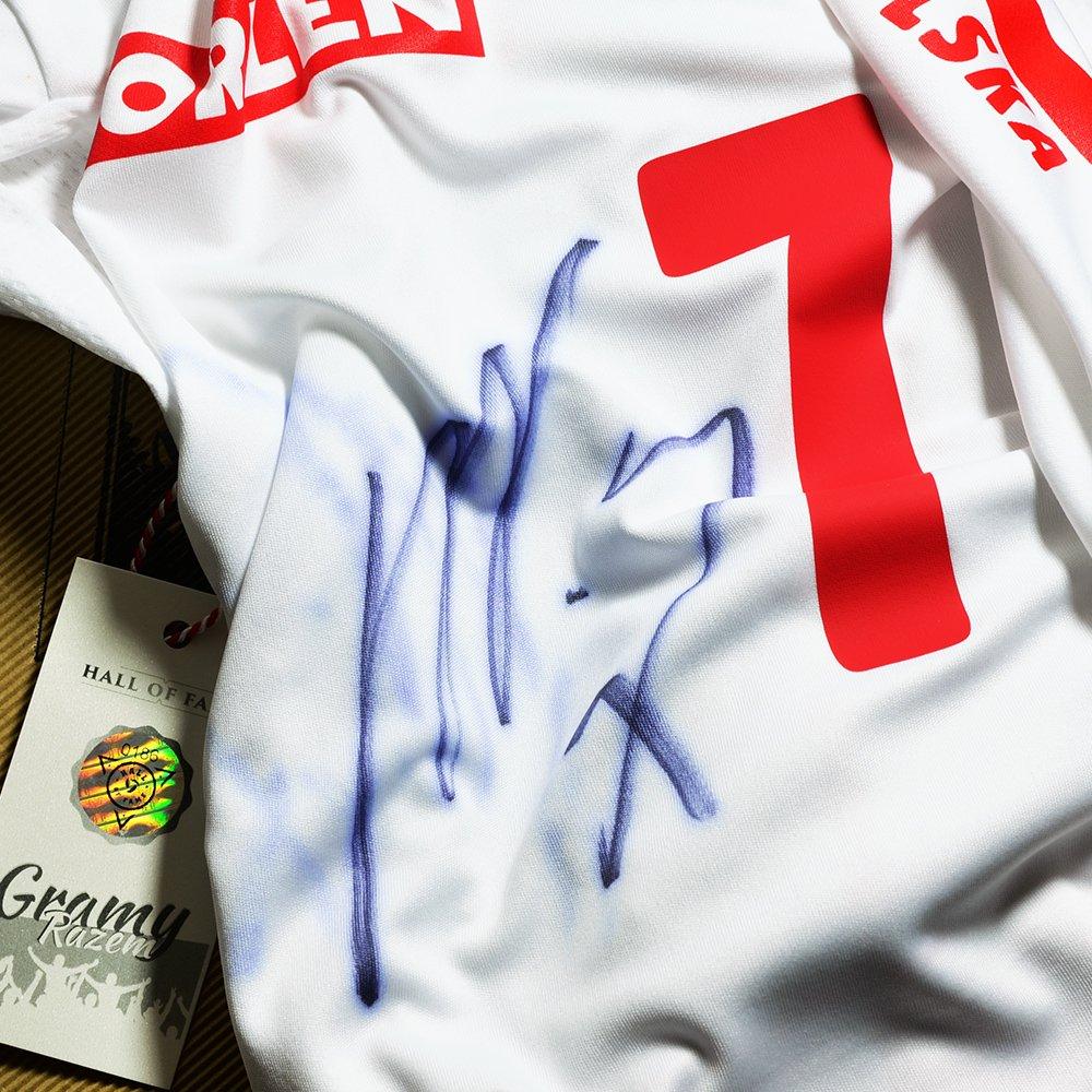 koszulka adidas reprezentacji polski z autografem karola kłosa