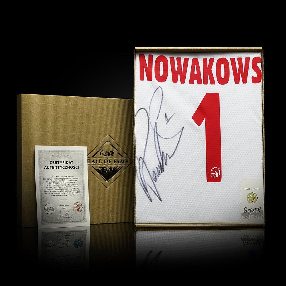 koszulka adidas reprezentacji polski z autografem piotra nowakowskiego
