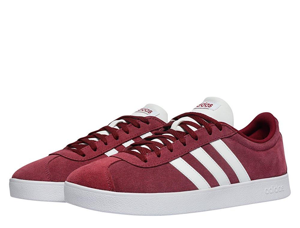 adidas vl court 2.0 burgundy