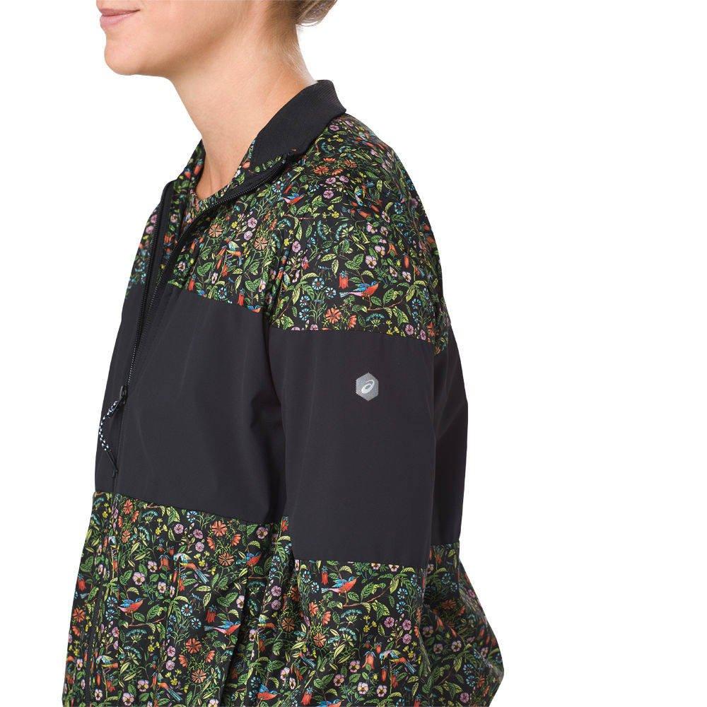 asics liberty print wind jacket w czarna